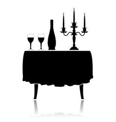 Romantic restaurant table vector image vector image