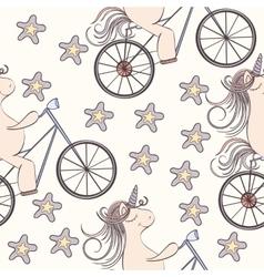 Seamless unicorn pattern vector