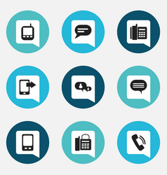 Set of 9 editable gadget icons includes symbols vector