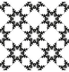 Snowflakes seamless on white background vector image vector image