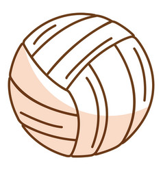 Volleyball balloon isolated icon vector