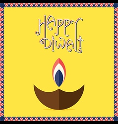 happy diwali festival greeting banner design vector image