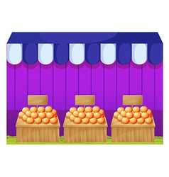 Fruitstands with empty signages vector