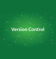 version control white text with green vector image