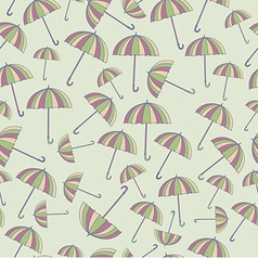 Pattern with umbrellas vector