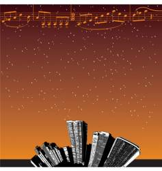 City-music stars vector