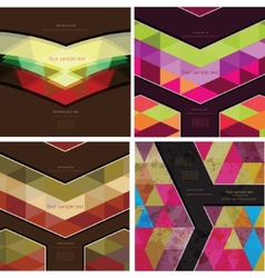 Set of four Abstract Geometric Background vector image