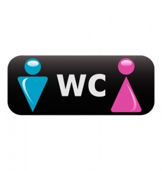 wc sign vector image