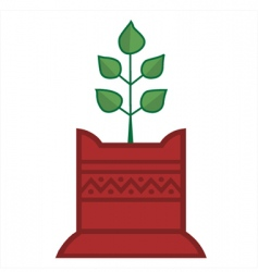 tulsi plant vector image