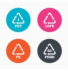 Pet ld-pe and hd-pe polyethylene terephthalate vector