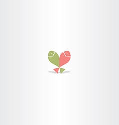 fish jumping logo icon vector image