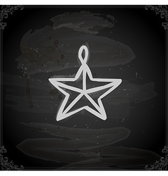 Hand drawn star decoration vector