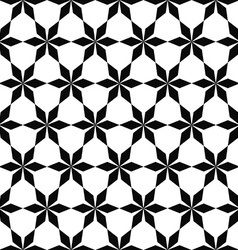 Repeat black and white geometric pattern vector