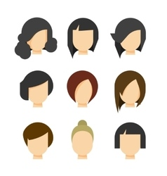 Hair styling isolated on white vector