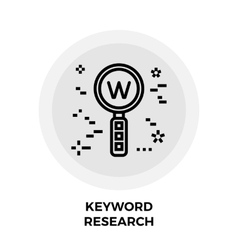 Keyword research line icon vector