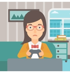 Addicted video gamer vector