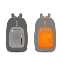 backpack set vector image