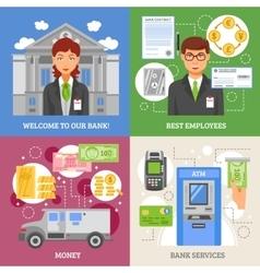 Bank services 2x2 design concept vector