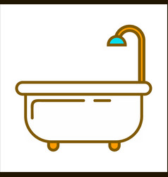 Bath with shower vector