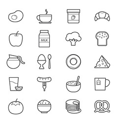 Breakfast Icons Line vector image