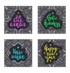 Christmas and new year card design elements vector