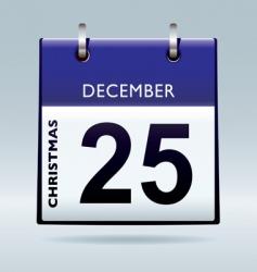 Christmas day calendar blue vector image