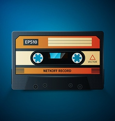 Close up of vintage audio tape vector