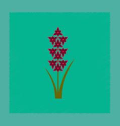 Flat shading style gladiolus vector