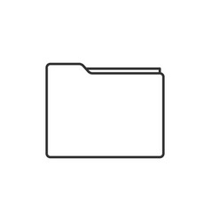 folder line icon vector image vector image