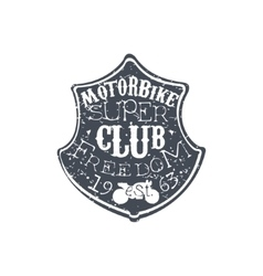 Freedom club vintage emblem vector