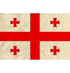 Georgia paper flag vector
