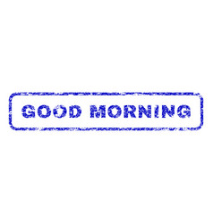 Good morning rubber stamp vector