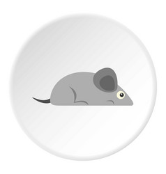Gray mouse icon circle vector