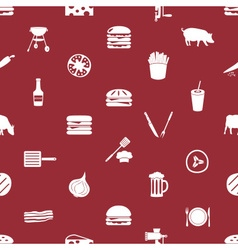 hamburger theme modern simple icons seamless vector image vector image