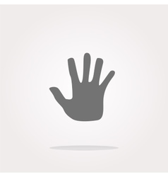hand icon on web button Web Icon Art vector image vector image