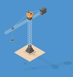 Industrial construction crane isometric crane vector