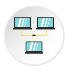 LAN icon flat style vector image
