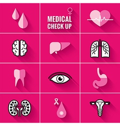 Medical Check Up Icons Woman vector image vector image