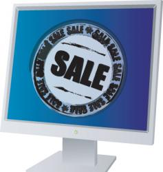monitor sale vector image
