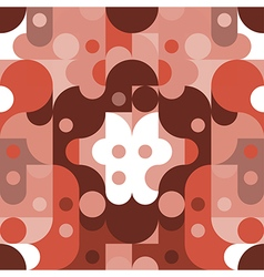 Pattern Abstract red tone color vector image vector image