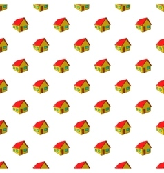 Residential house pattern cartoon style vector