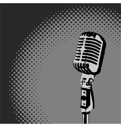 Retro Microphone Spotlight vector image vector image