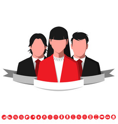 Silhouettes of successful business people vector