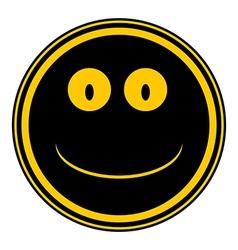 Smile face circle button vector