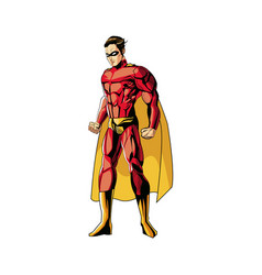 Superhero figure standing proud image vector