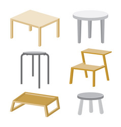 Table chair furniture wood design vector