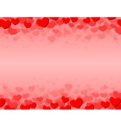 Valentines day card with scattered hearts on top vector