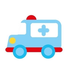 ambulance emergency toy icon vector image