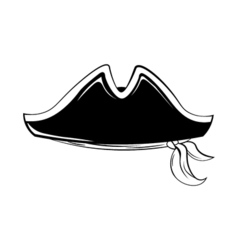 Pirate hat isolated on white vector