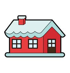 Santas north pole home christmas character icon vector